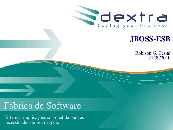 Maratona JBoss 2010 - JBoss-ESB
