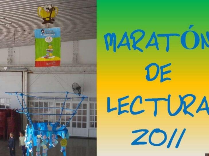 MARATÓN DE LECTURA 2011 - turno tarde