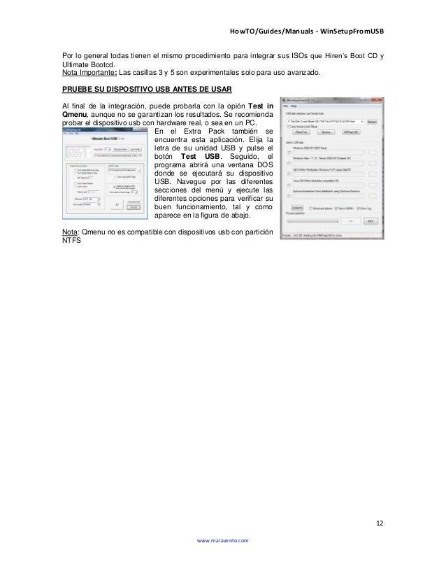 HowTO/Guides/Manuals - WinSetupFromUSB 12 www.maravento.com Por lo general todas tienen el mismo procedimiento para integr...