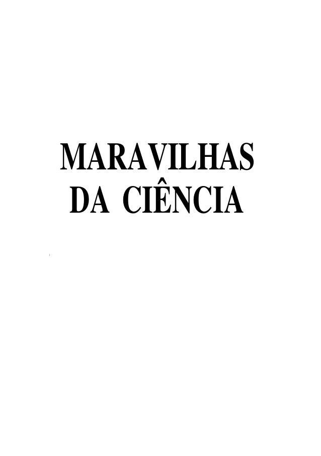 MARAVILHAS DA CIÊNCIA i