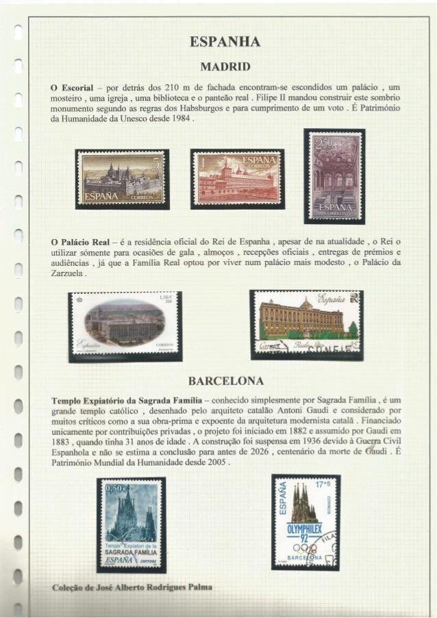 ESPANHA MADRID  O Escorial - por detrás dos 210 m de fachada encontram-se escondidos um palácio ,  um mosteiro ,  uma igre...