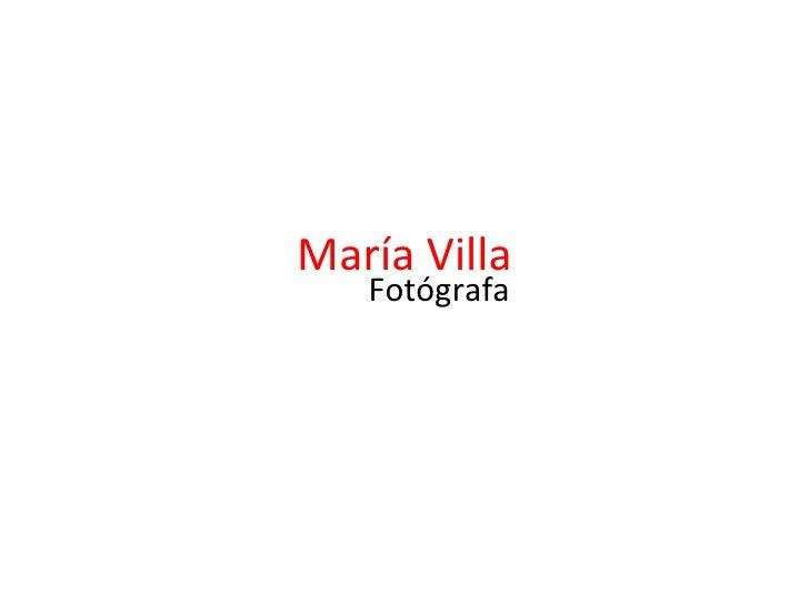María Villa Fotógrafa