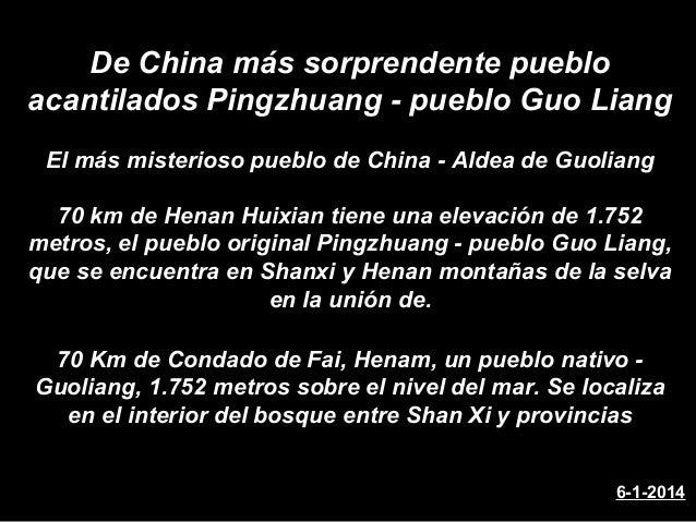 De China más sorprendente pueblo acantilados Pingzhuang - pueblo Guo Liang El más misterioso pueblo de China - Aldea de Gu...