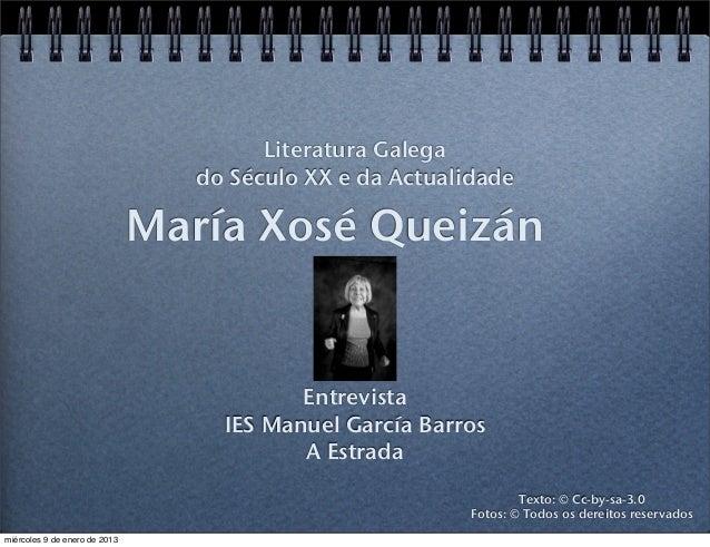 Literatura Galega                                  do Século XX e da Actualidade                               María Xosé ...