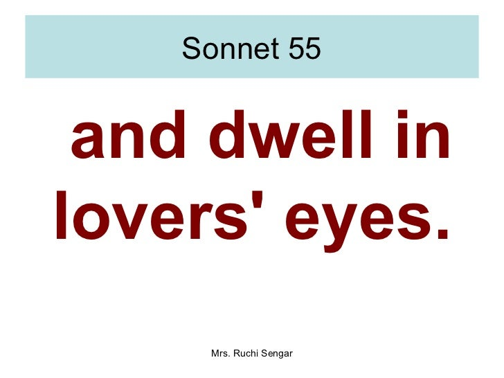 what is sonnet 55 about