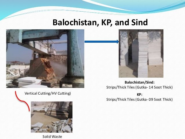 Vertical Cutting/HV Cutting) Balochistan/Sind: Strips/Thick Tiles (Gutka- 14 Soot Thick) Solid Waste Balochistan, KP, and ...