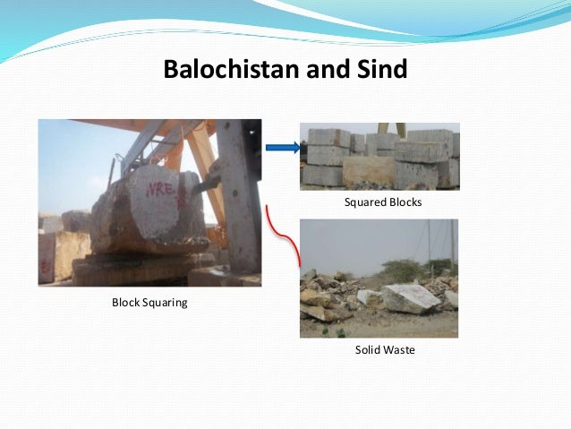 Balochistan and Sind Squared Blocks Block Squaring Solid Waste