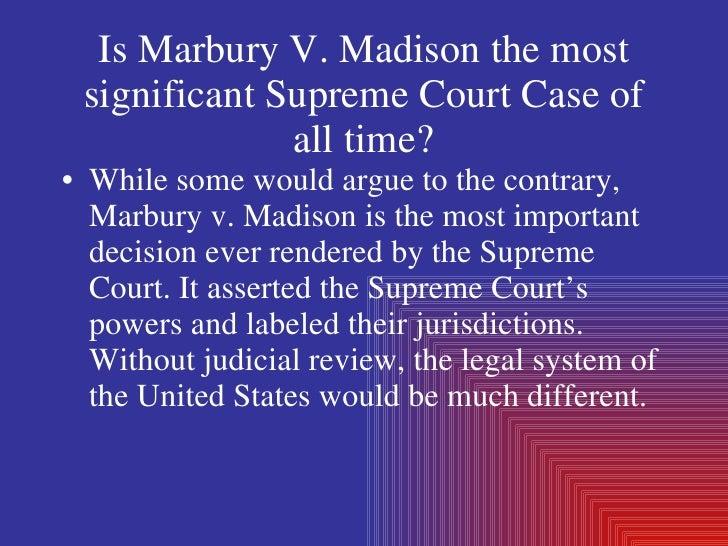 marbury vs madison significance