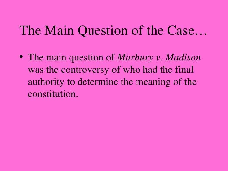 marbury v madison case summary