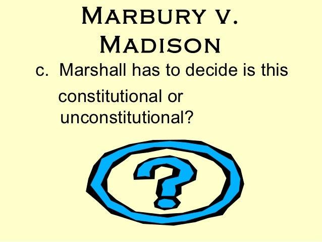 marbury v madison essay