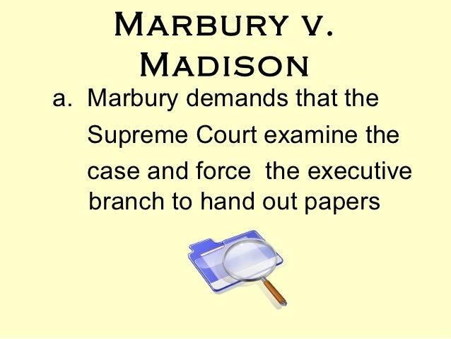 Marbury vs madison essay