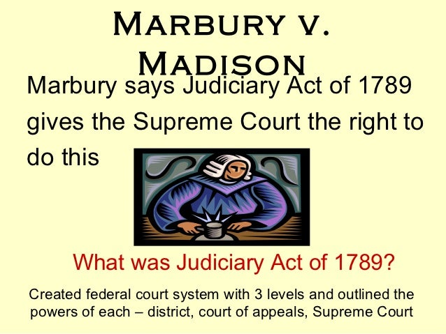 the implications of appointing william marbury as a federal judge A critical guide to marbury v madison william w \tan alstyne marshall was appointed to the post from the president's cabinet as a article ill which subjects federal judges to removal only by impeachment.