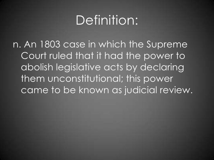 a report on the case of marbury vs madison Marbury v madison what happened in the 1803 united states court case between william marbury and james madison what affect did it have on the young nation.