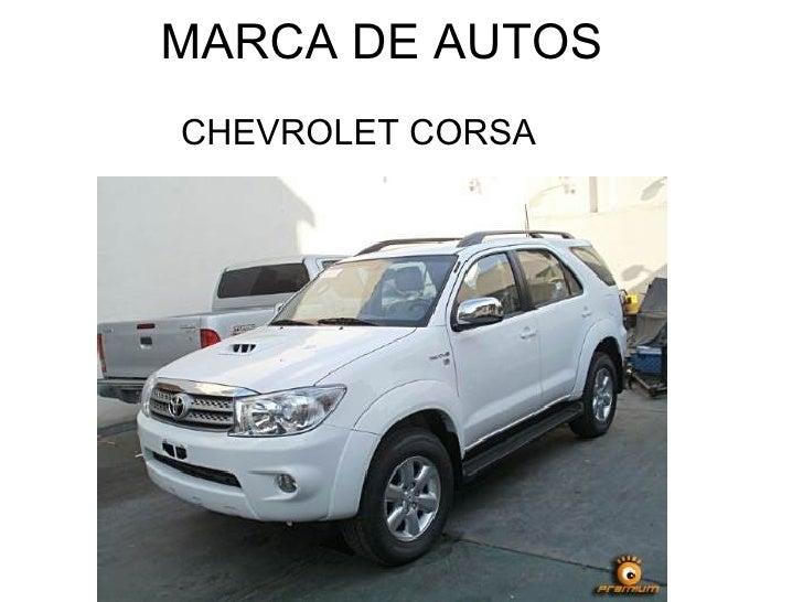 MARCA DE AUTOS  CHEVROLET CORSA