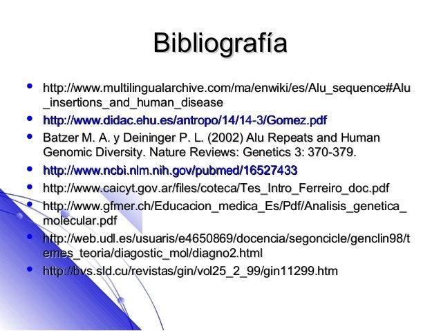 Marcadores genéticos citogenetica