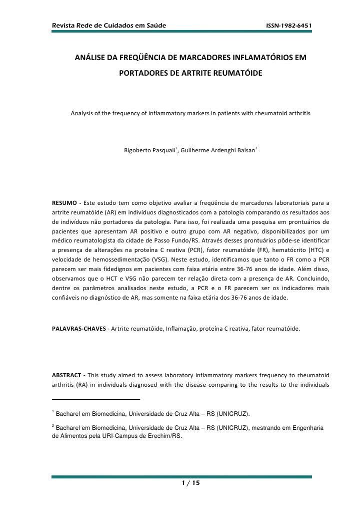 Revista Rede de Cuidados em Saúde                                              ISSN-1982-6451          ANÁLISE DA FREQÜÊNC...