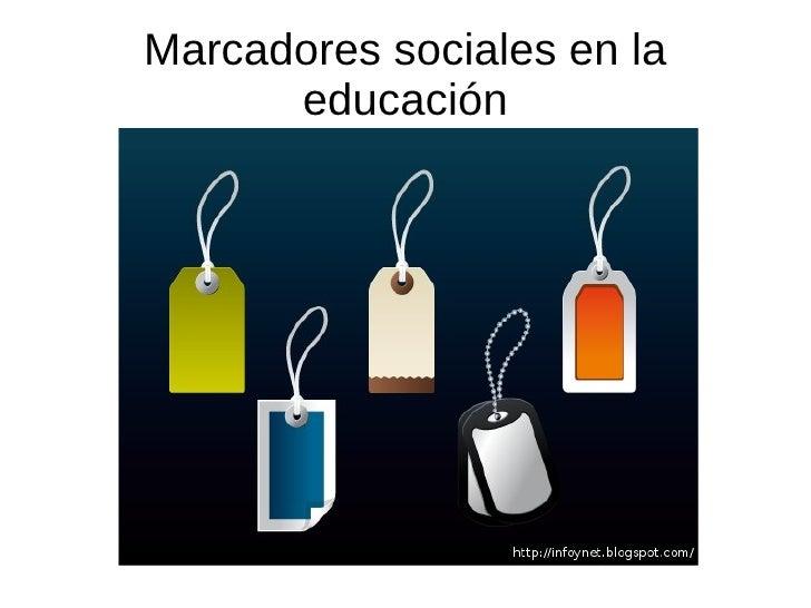 Marcadores sociales en la educación