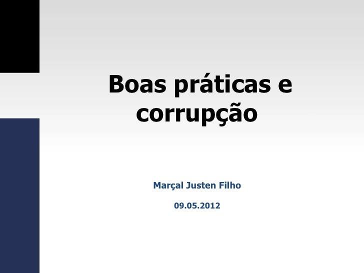 Direito dos Contratos Administrativos: Entre o estímulo às boas  práticas e o combate à corrupção Slide 2