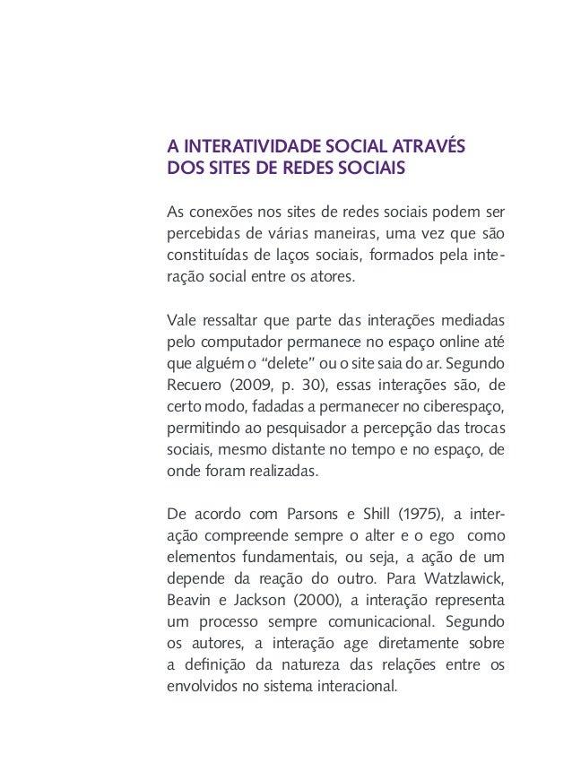 """""""Cooley (1975) salienta ainda que a comunicação compreende o mecanismo último das interações sociais. Estudar a interação ..."""