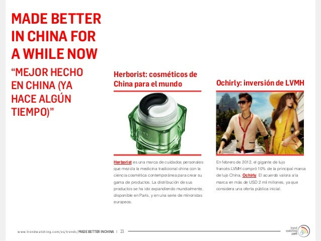 """MADE BETTERIN CHINA FORA WHILE NOW""""MEJOR HECHO                                                 Herborist: cosméticos deEN ..."""
