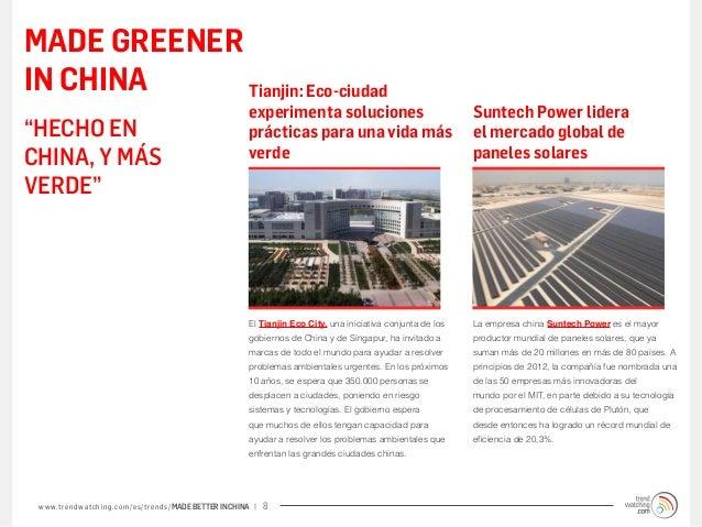 MADE GREENERIN CHINA     Tianjin: Eco-ciudad                                                             experimenta soluc...