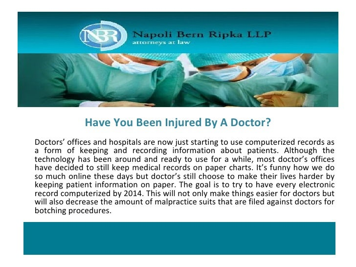 Have You Been Injured By A Doctor? Slide 3