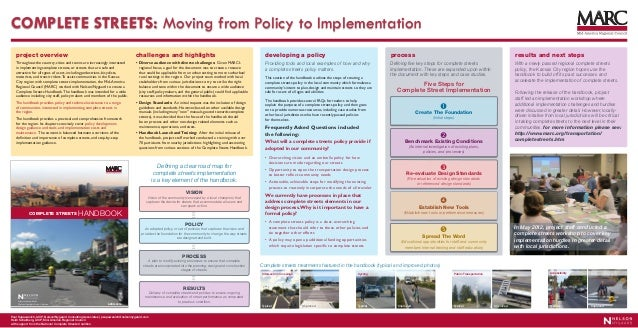 COMPLETE STREETS: Moving from Policy to Implementation   project overview                                                ...