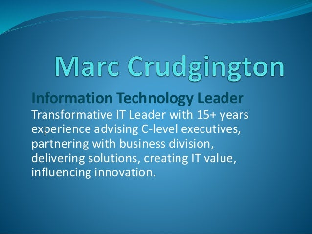 Information Technology Leader Transformative IT Leader with 15+ years experience advising C-level executives, partnering w...