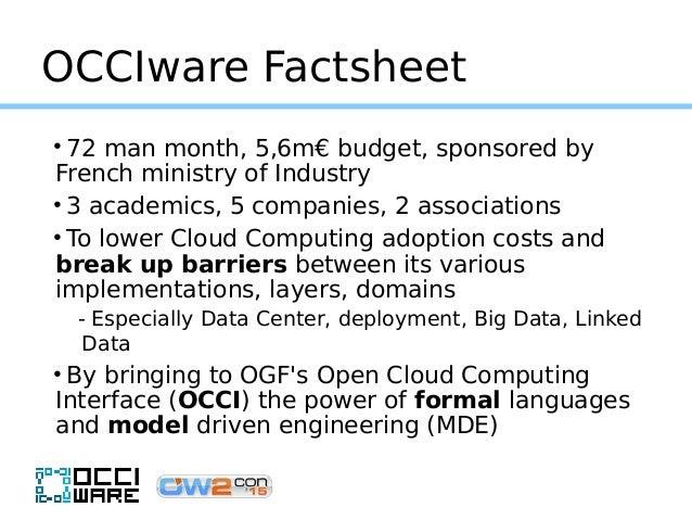 OCCIware, a formal framework for Everything as a Service. OW2con'15, November 18, 2015, Paris.  Slide 3