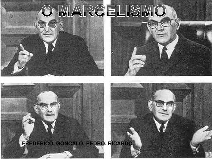 O MARCELISMO<br />FREDERICO, GONÇALO, PEDRO, RICARDO<br />