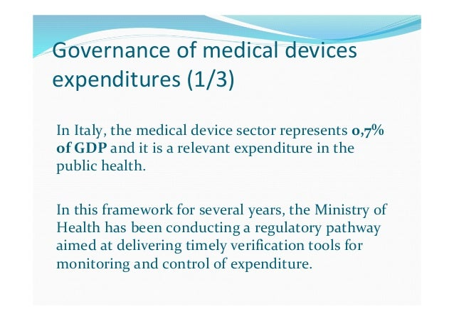 Governance of medical devices expenditures (2/3) The Financial Law 2003 established the Committee for Medical Devices (CUD...