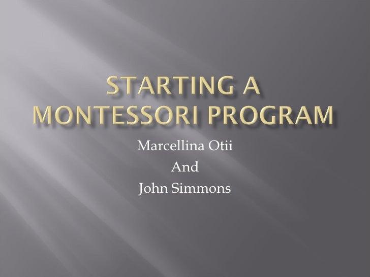 Marcellina Otii And John Simmons