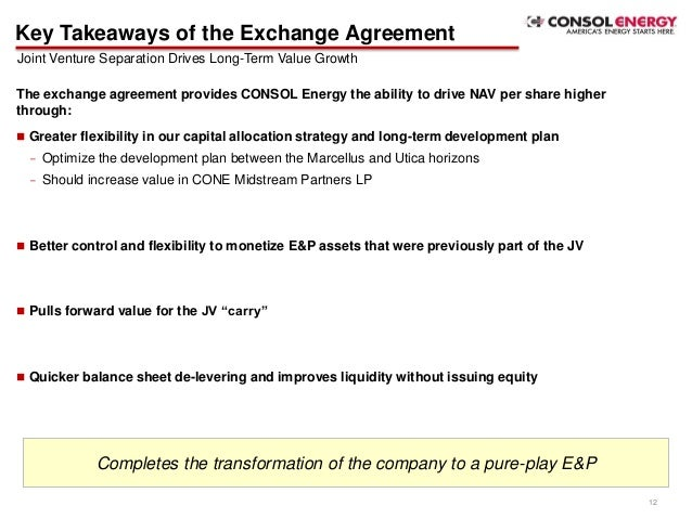 Consol Energy  Noble Energy Marcellus Shale Joint Venture Separation