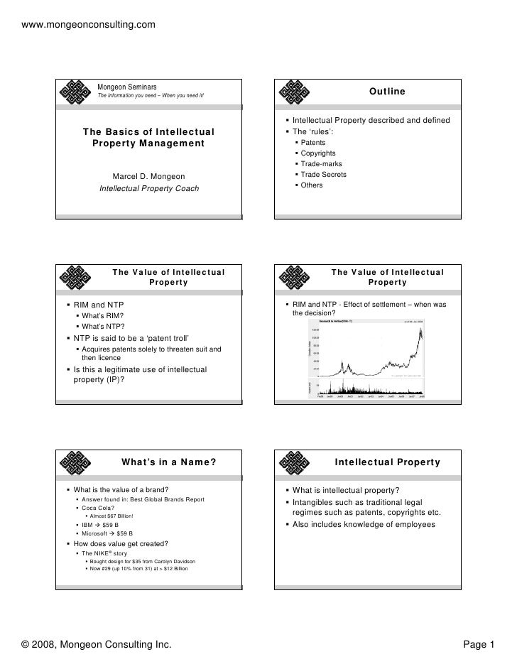 www.mongeonconsulting.com                       Mongeon Seminars                   The Information you need – When you nee...