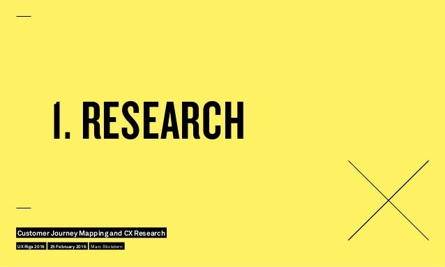 1. RESEARCH UX Riga 2016 Customer Journey Mapping and CX Research 25 February 2016 Marc Stickdorn