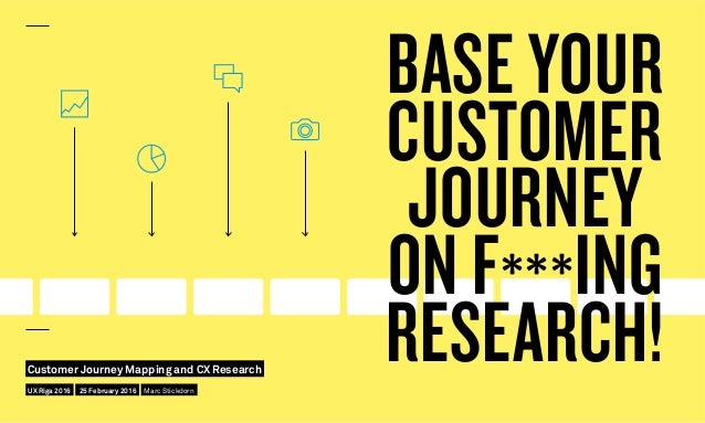 BASE YOUR CUSTOMER JOURNEY ON F***ING RESEARCH!UX Riga 2016 Customer Journey Mapping and CX Research 25 February 2016 Marc...