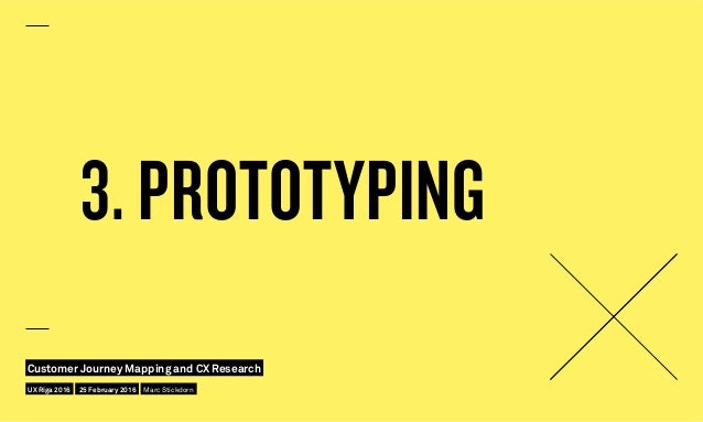 3. PROTOTYPING UX Riga 2016 Customer Journey Mapping and CX Research 25 February 2016 Marc Stickdorn