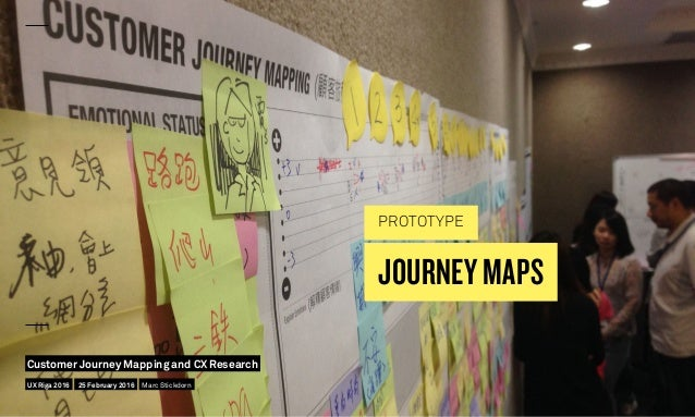 JOURNEY MAPS PROTOTYPE UX Riga 2016 Customer Journey Mapping and CX Research 25 February 2016 Marc Stickdorn