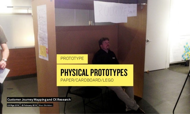 PHYSICAL PROTOTYPES PAPER/CARDBOARD/LEGO PROTOTYPE UX Riga 2016 Customer Journey Mapping and CX Research 25 February 2016 ...