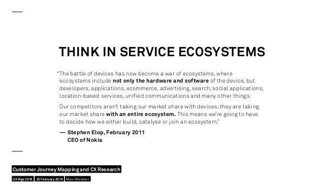 """""""The battle of devices has now become a war of ecosystems, where ecosystems include not only the hardware and software of ..."""