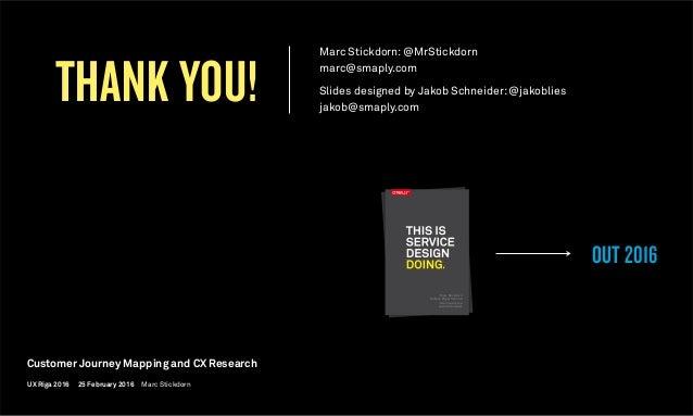 THANK YOU! OUT 2016 Marc Stickdorn Markus Edgar Hormeß Adam Lawrence Jakob Schneider Marc Stickdorn Markus Edgar Hormeß Ad...