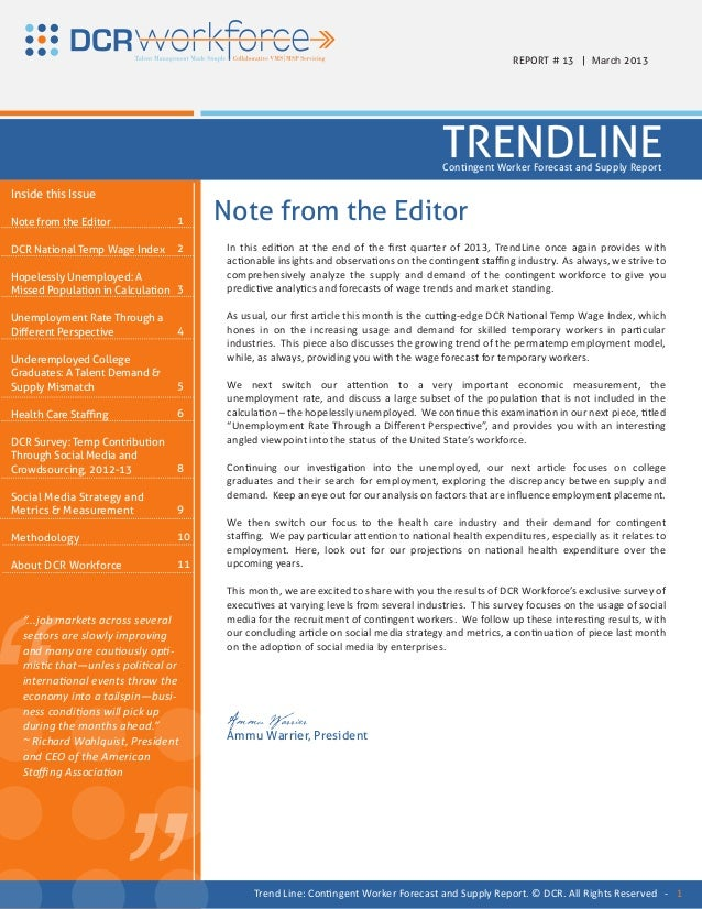 REPORT # 13 | March 2013                                                                                      TRENDLINE   ...