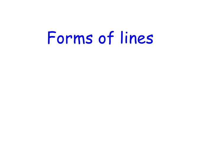 Forms of lines