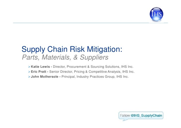 Automotive supply chains risks and mitigation