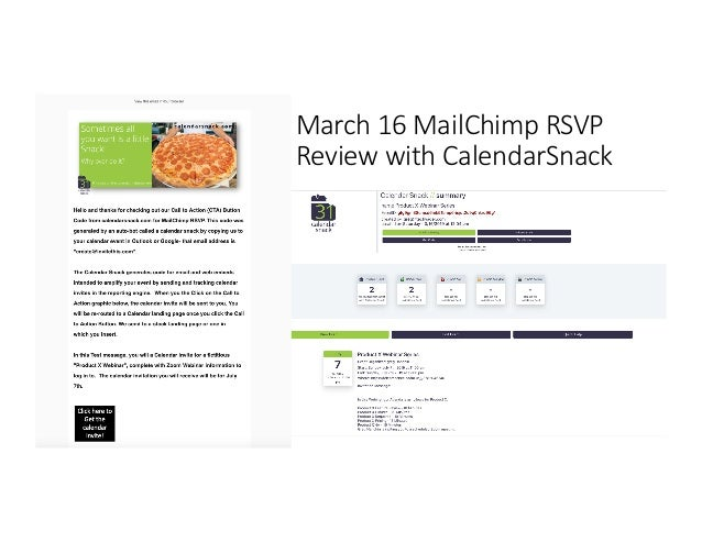 March 16 MailChimp RSVP Review with CalendarSnack