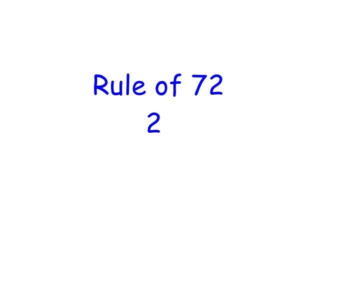 Rule of 72     2