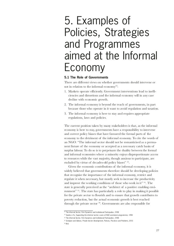 ethnographic study of the informal sector Before setting aside the informal sector concept, however, it is instructive for purposes of the present paper to briefly consider hart's (1973) use of it in his anthropological studies of accra as introduced by hart, the concept was employed simply to present an ethnographic description.