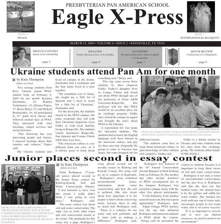 Eagle X-Press                                                        PRESBYTERIAN PAN AMERICAN SCHOOL                PAGE ...