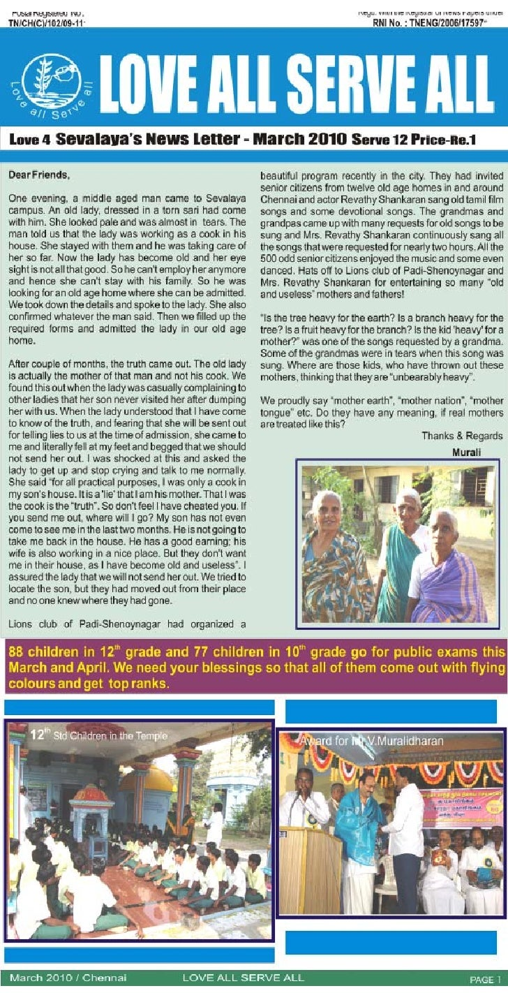 March 2010 News Letter