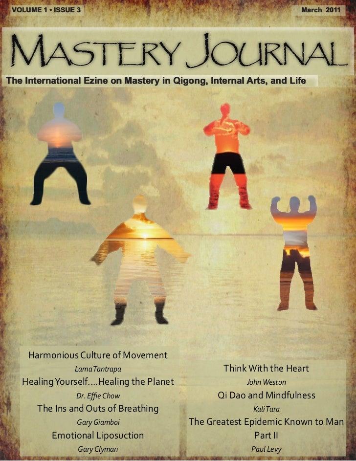 VOLUME 1 • ISSUE 3                                                   March 2011Mastery JournalThe International Ezine on M...